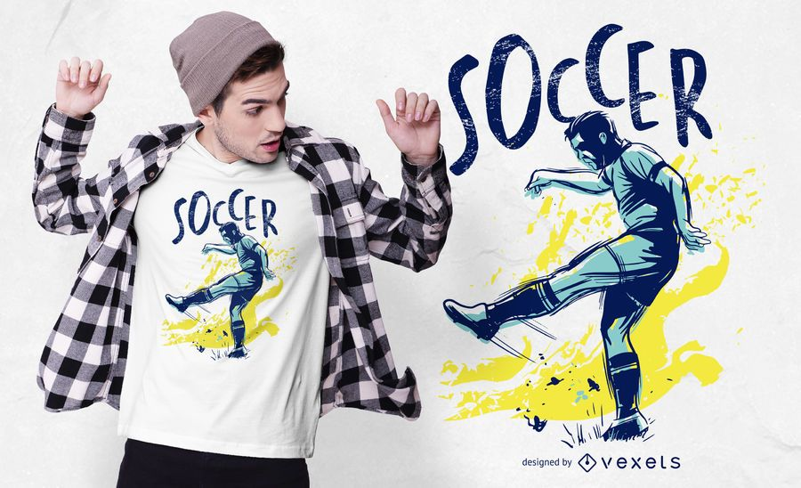 Diseño de camiseta de color Grunge de fútbol