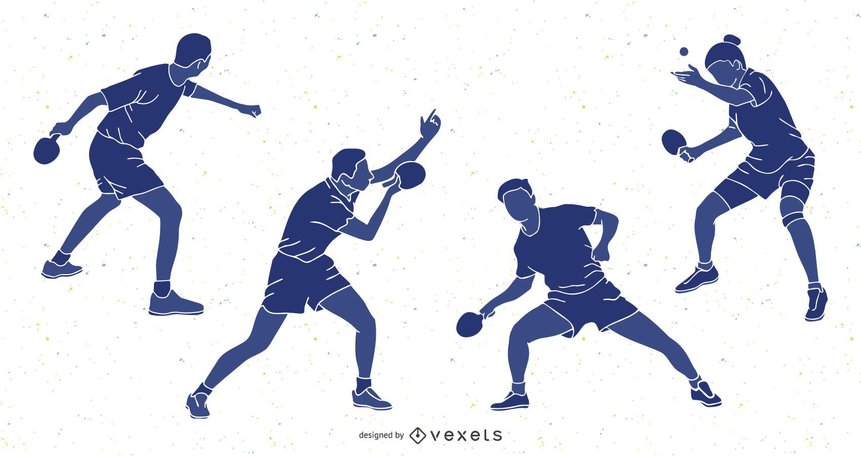 Table Tennis People Silhouette Pack