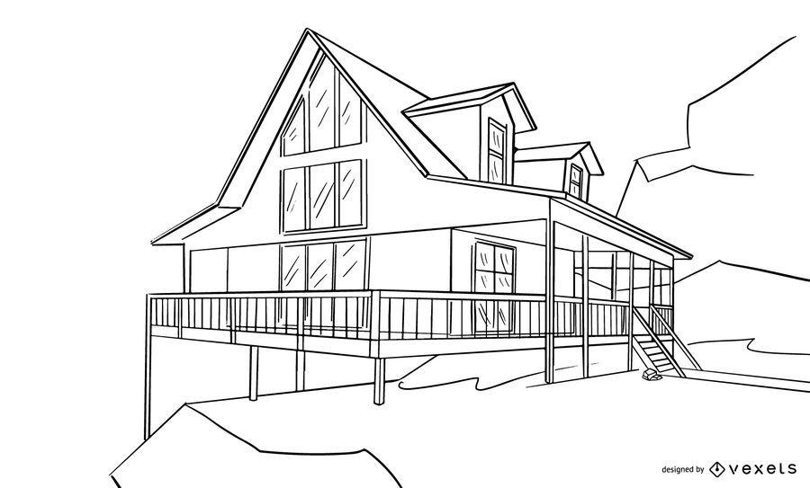 Architectural House Design Sketch