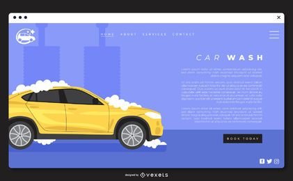 Car wash landing page template