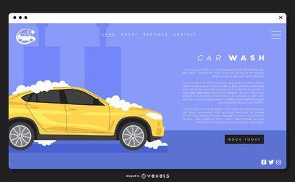 Plantilla de página de aterrizaje de lavado de autos