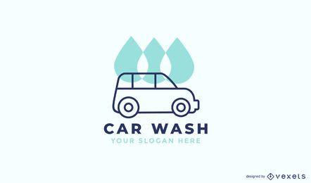 Design de logotipo de lavagem de carro