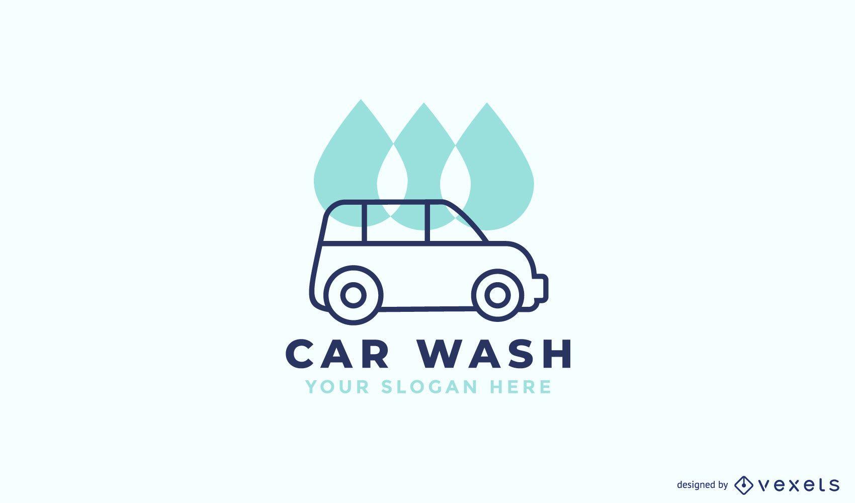 Diseño de logotipo de lavado de autos
