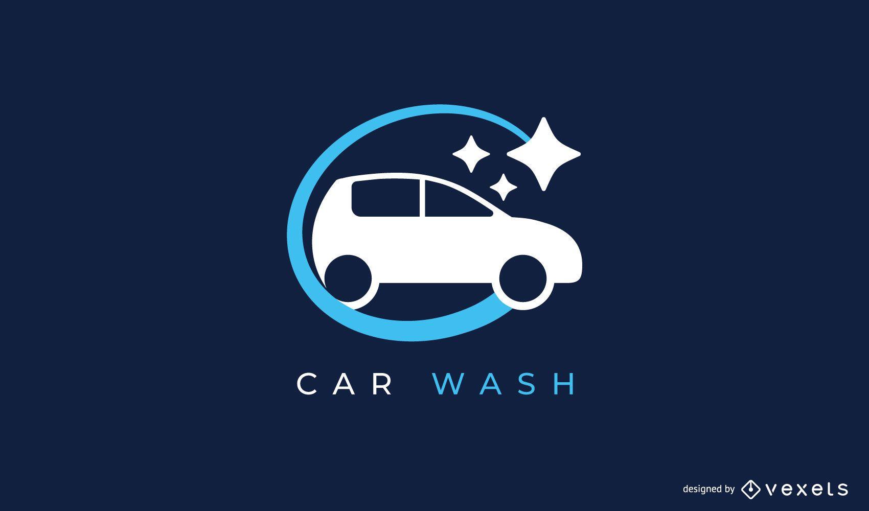 Modelo de design de logotipo para lavagem de carro
