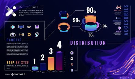 Plantilla abstracta de infografía