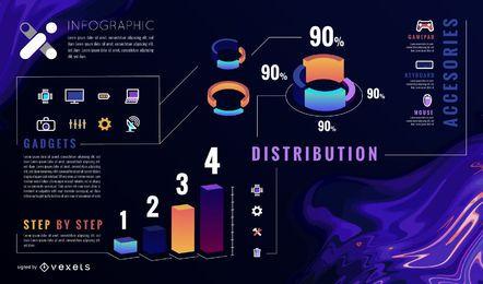 Template abstrato infográfico