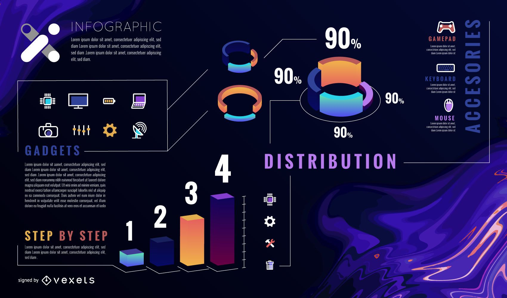 Infographic abstract template