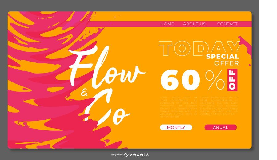 Abstract colorful landing page template
