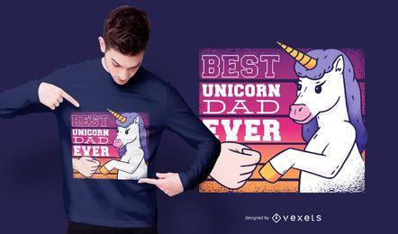 Melhor design de t-shirt do pai unicórnio