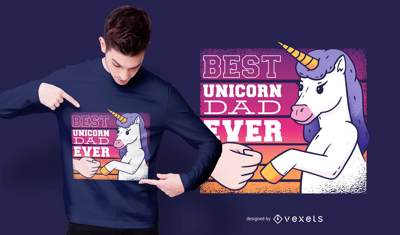 Best unicorn dad t-shirt design