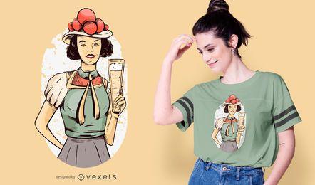 Design de t-shirt de menina alemã