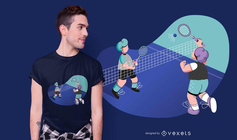 Badminton match t-shirt design