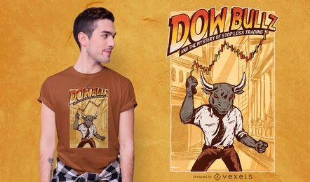 Design de t-shirt da Dow bullz