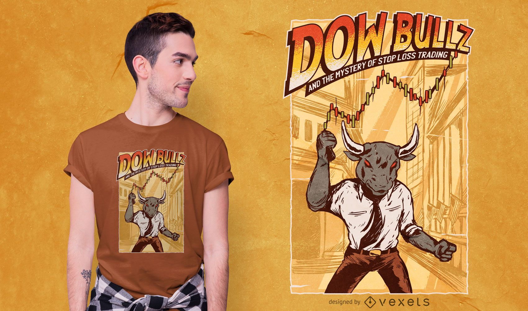 Design de camiseta Dow Bullz