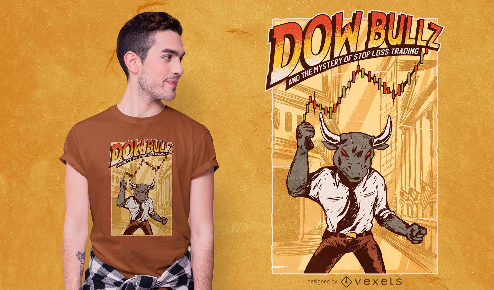 Dow bullz t-shirt design