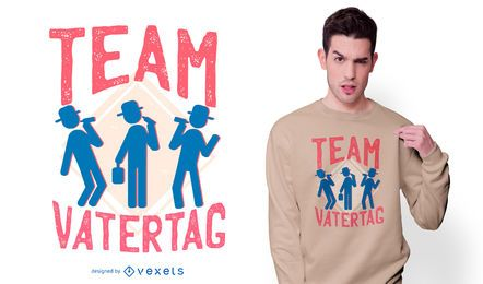 Design de t-shirt do vatertag da equipe