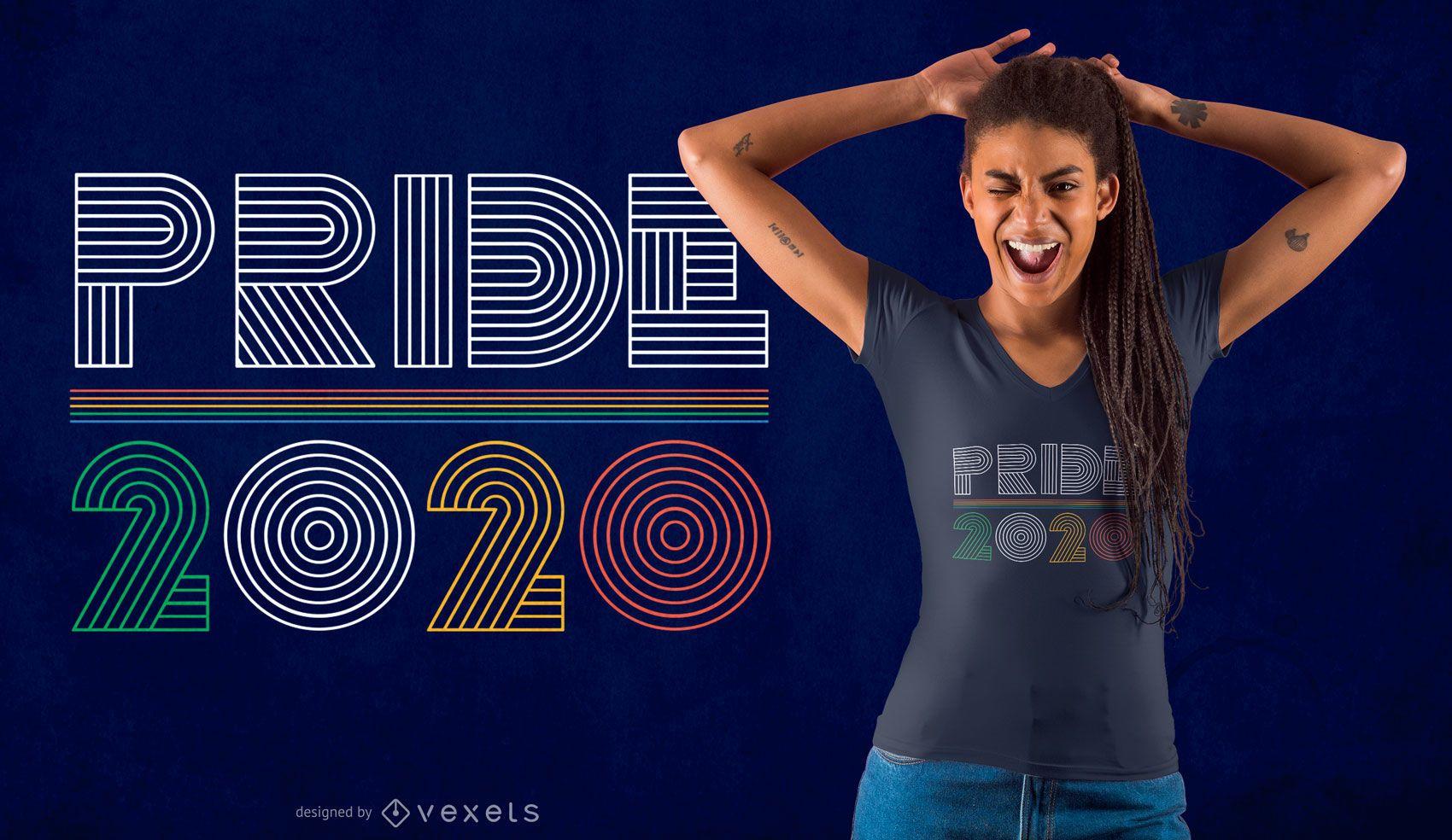 Diseño de camiseta Pride 2020
