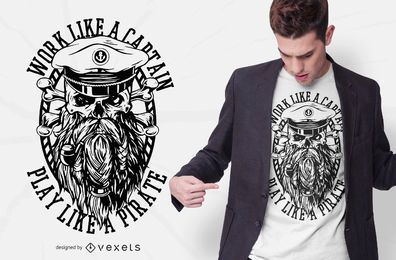 Diseño de camiseta Work Like A Pirate