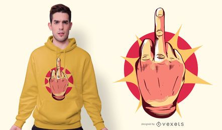 Flipping Off Hand T-shirt Design