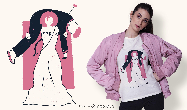 Design de camisetas para noiva caçada ao marido