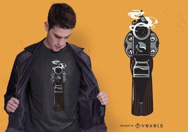 Design de t-shirt de arma de fumo