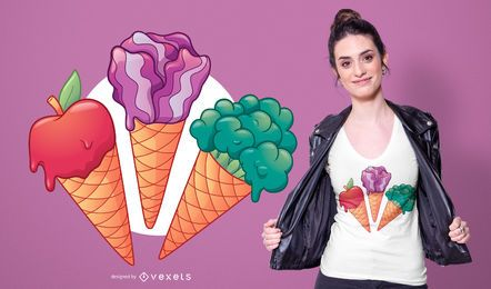 Veggie Ice Cream T-shirt Design
