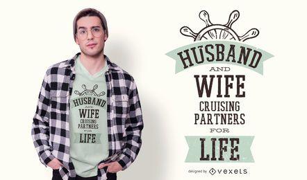 Diseño de camiseta de socios de crucero