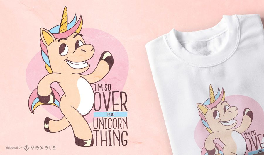 Unicorn funny quote t-shirt design