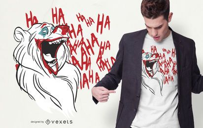 Design de camisetas Joker Bear