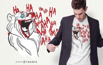 Diseño de camiseta de Joker Bear