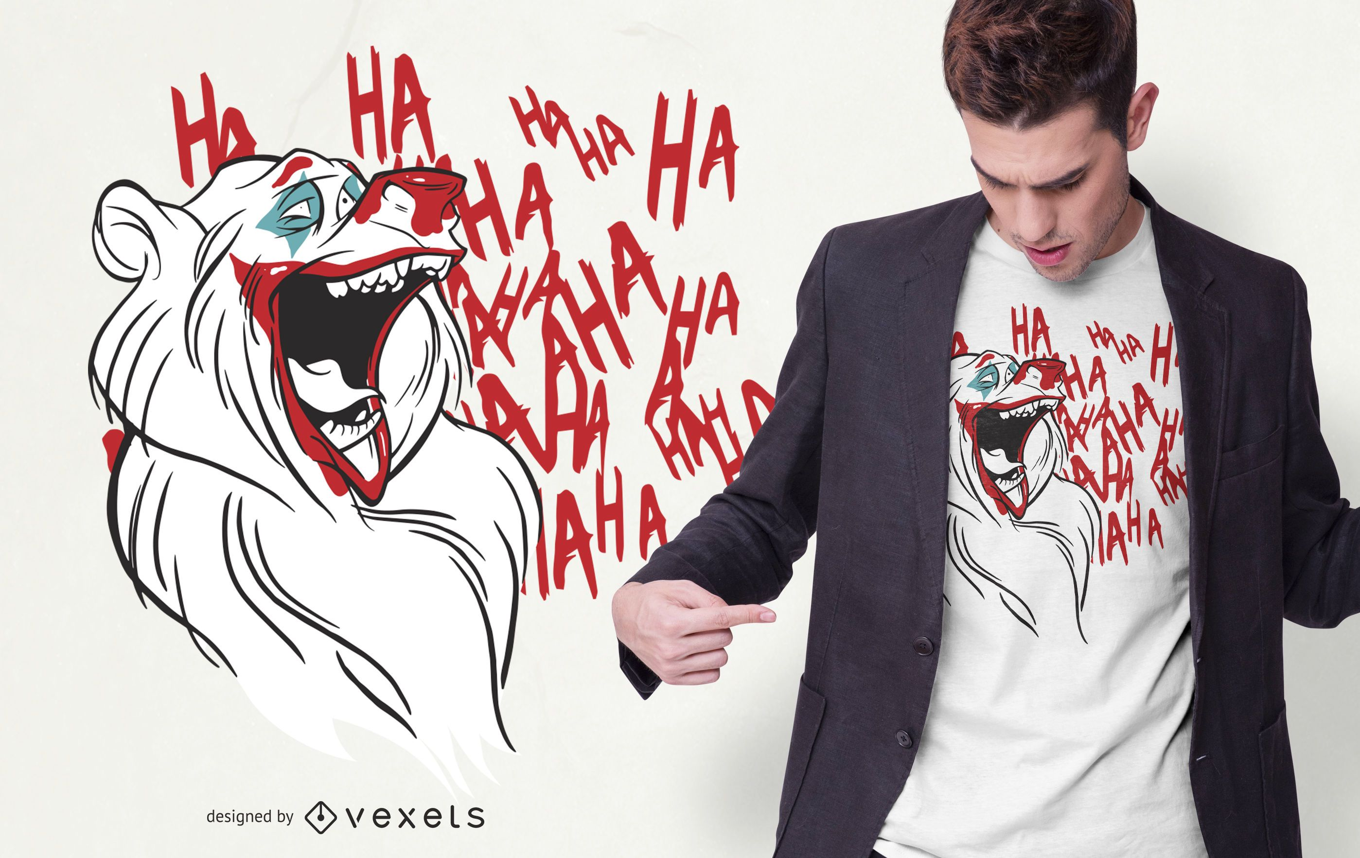 Design de camisetas Joker Bear