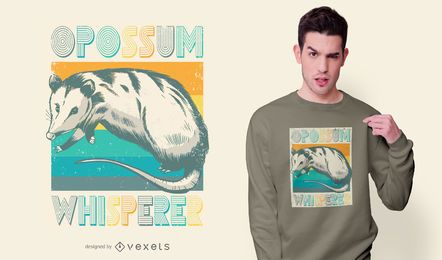 Design de t-shirt de gambá vintage