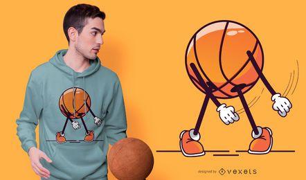 Design de t-shirt de fio dental de basquete
