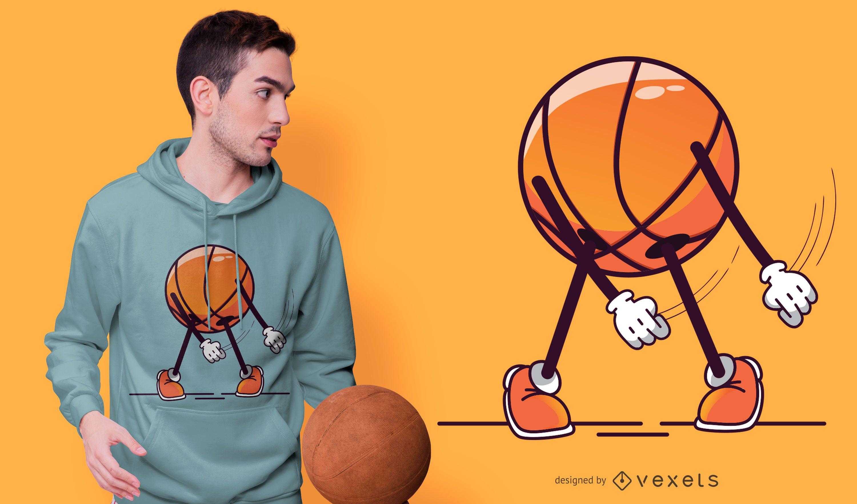 Design de camisetas de algodão leve para basquete