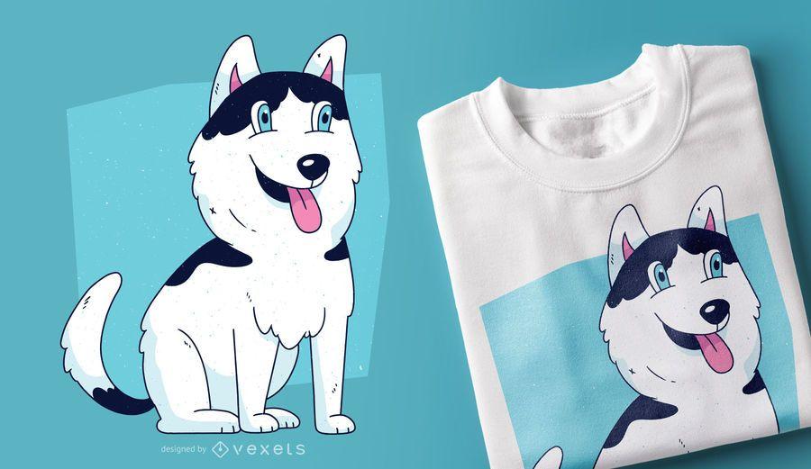 Husky Dog Puppy T-shirt Design