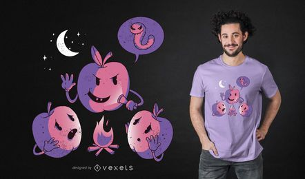 Design engraçado do t-shirt de Apple Horror Story