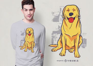 Design feliz do t-shirt do golden retriever