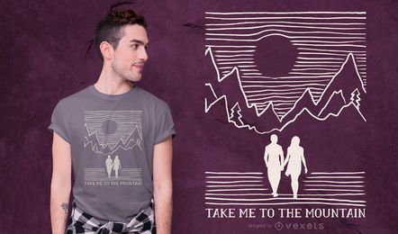 Design de t-shirt de citação de casal de montanha