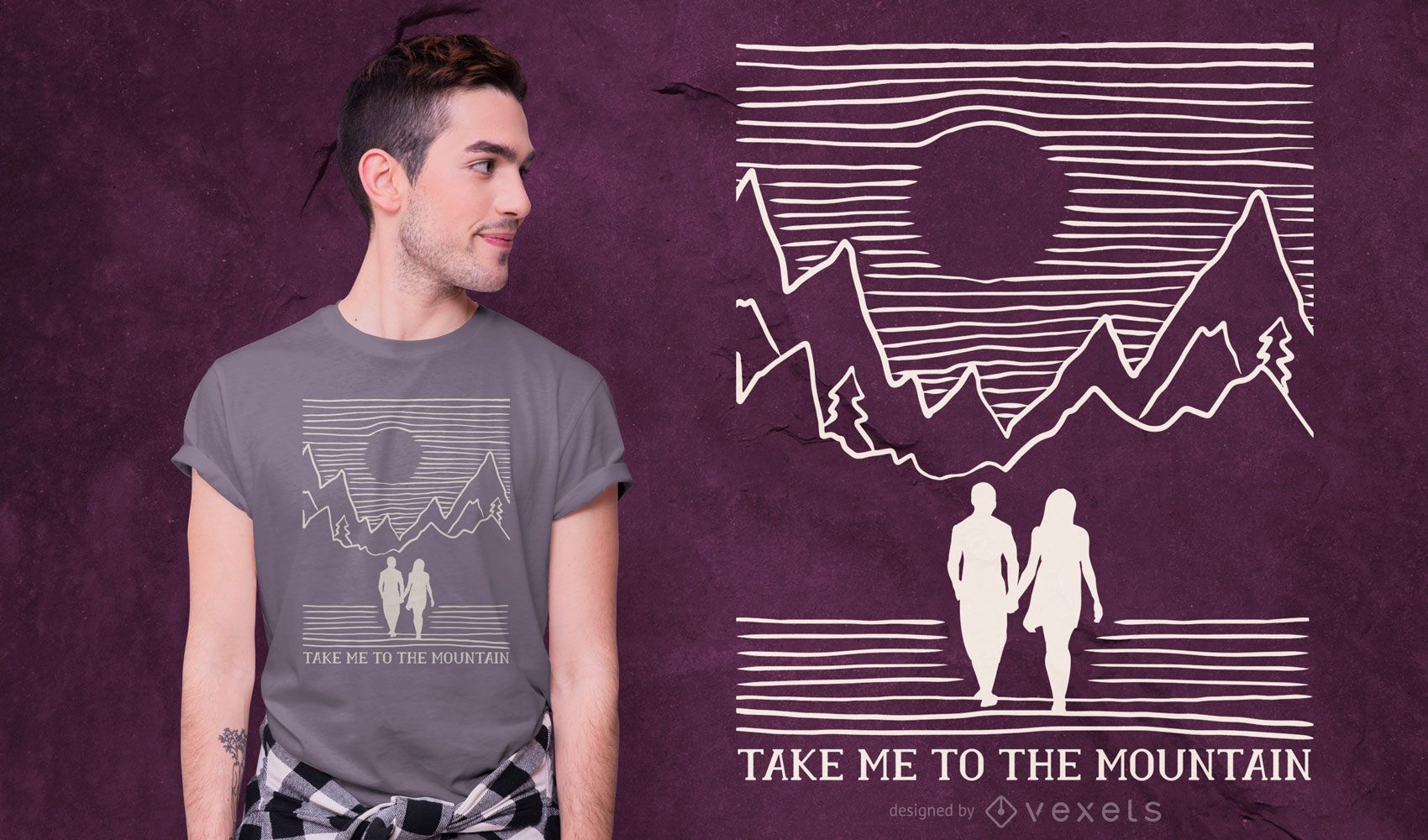 Mountain Couple Quote T-shirt Design