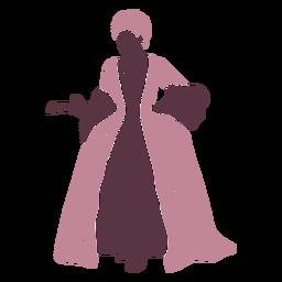 Duotono elegante dama del siglo XVIII