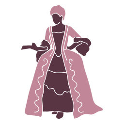 Senhora fantasia duotone do século XVIII