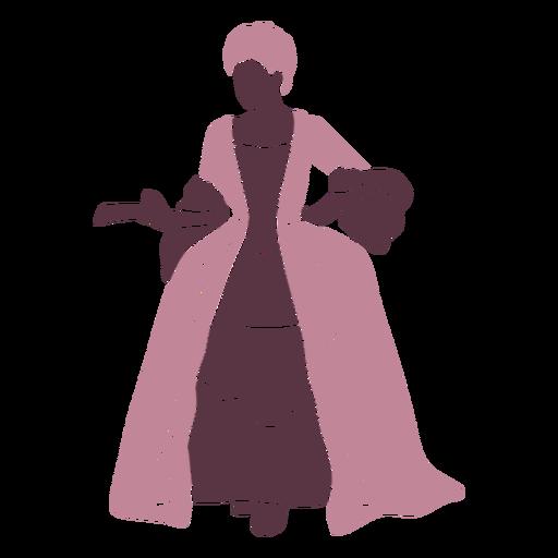 Duotono de dama de lujo del siglo XVIII