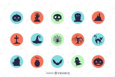 Ícones do dia das bruxas