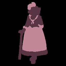 Duotono de mujer elegante del siglo XVIII