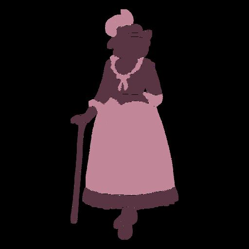 Duotono de mujer elegante del siglo XVIII Transparent PNG