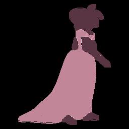Duotono de perfil de mujer de lujo del siglo XVIII.