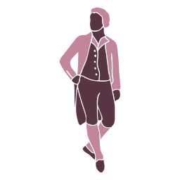Duotono elegante caballero del siglo XVIII