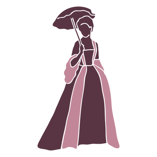 Duotono elegante dama del siglo XVIII Transparent PNG