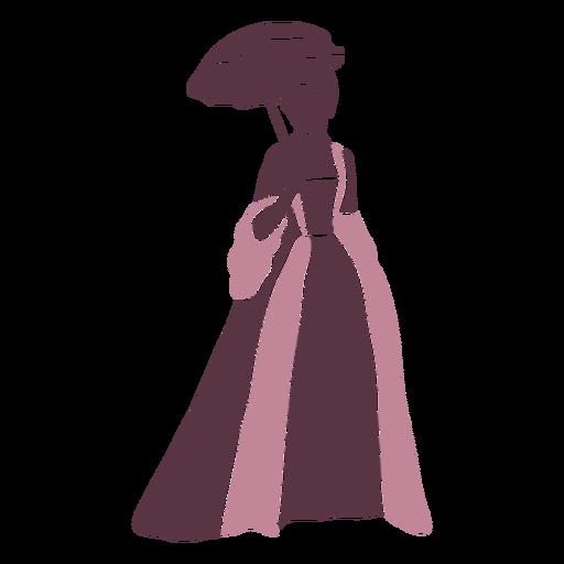 Duotono elegante de dama del siglo XVIII