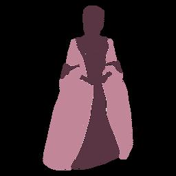 Duotono elegante mujer del siglo XVIII